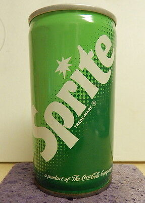 3 piece steel Sprite can, mid seventies, air fill