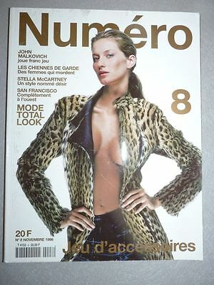 Magazine mode fashion NUMERO french #8 novembre 1999 Gisele Bundchen