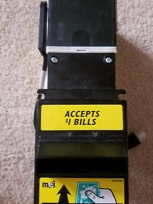 MEI 24V Dollar bill acceptor validator model VN 2702 U5M w/$500 bill box/cable