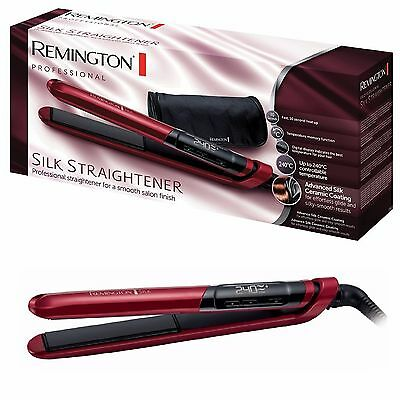 Remington S9600 Ceramic Coating Silk Hair Straightener Brand New