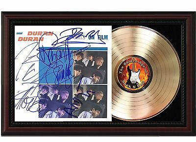 Duran Duran Girls on Film - 24k Gold LP Record Reprint Autograph In Wood Frame