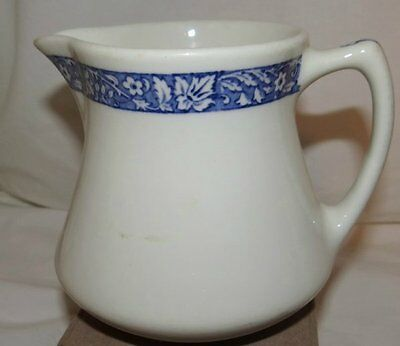Vintage Shenango Pottery Milk Pitcher Blue Trim