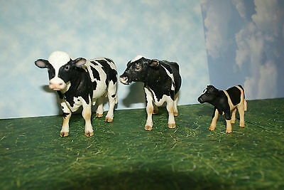 Schleich Holstein Bull, Cow & Calf from Farm Life Series 2007 Set of 3