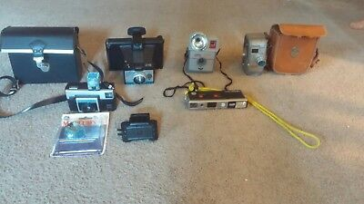 LOT OF VINTAGE CAMERAS CAMERA and ACCESSORIES and CARRYING CASES