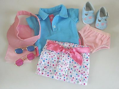 """NEW-Doll Clothes: SKIRT Outfit w/Shoes fit 18""""Doll such as A.G. Doll-Lot #284"""