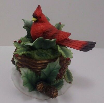 PartyLite P7891 Red Bird on Nest Tuscany Collection Candle Holder  3