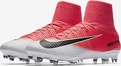 official photos e86fe bf4e5 Nike Mercurial Superfly V DF FG ACC Soccer Cleats Mens Pink 831940-601 Size  6
