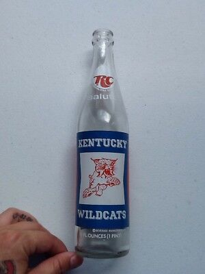 Vintage RC Royal Crown Soda Kentucky Wildcats Commemorative Bottle 1974
