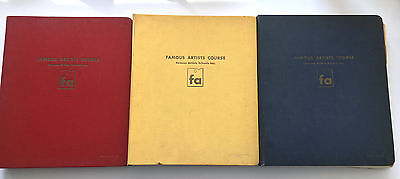 Famous Artists Course Illustrated 3 Book Set  * Copyright 1954* Lessons 1-24