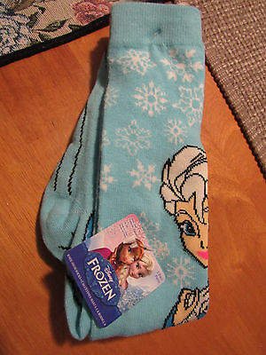 2 PAIR Disney Frozen Girls Knee High Socks ELSA & OLAF/L/G..4-10...NWT