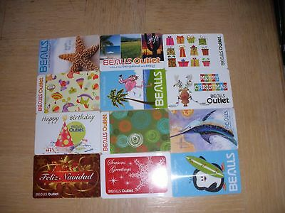 Bealls  12 different new collectible gift cards