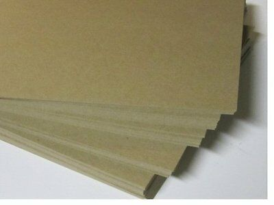 """Paper Mart 8-1/2"""" x 11"""" 22-Point Chipboard Brown Kraft Sheets for Mailing Protec"""
