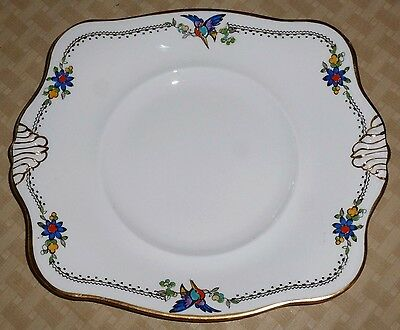 Tuscan China Platter / Plate made in England gold edging
