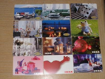 Austria IKEA   12 different new collectible gift cards