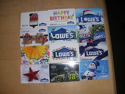 Lowe's   12 different new collectible gift cards