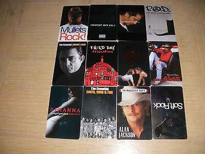 Music Pass   12 different new collectible gift cards