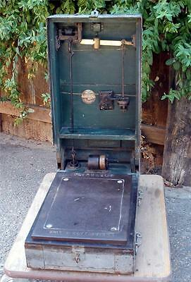 Vintage Antique FAIRBANKS Army & Navy Scale Brass Portable Fold-out Wood Box