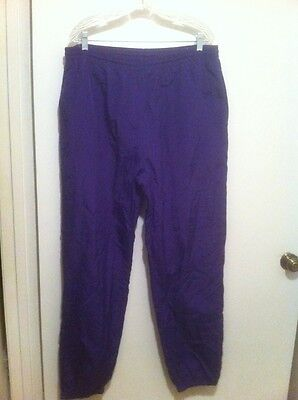 Vtg Reebok Slick Pants Unisex Xl With Pockets