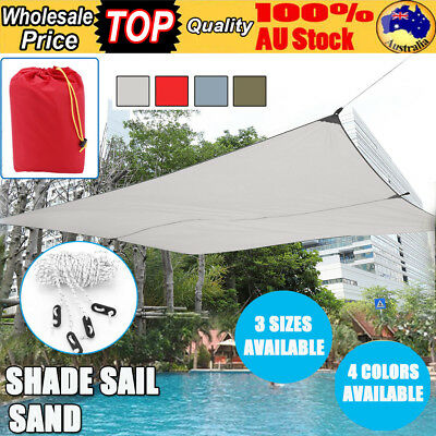Shade Sail Sand Sun Canopy Waterproof Outdoor Garden Triangle Square Rectangle
