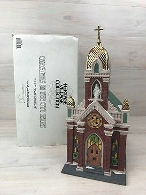 Dept 56 Heritage Village Christmas in the City Series Holy Name Church Porcelain