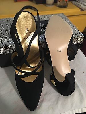 PM Collection 9.2.5 black strap pump size 7.5B. Worn just a couple times.