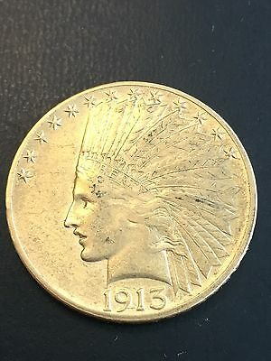 1913 $10 dollars gold Indian coin
