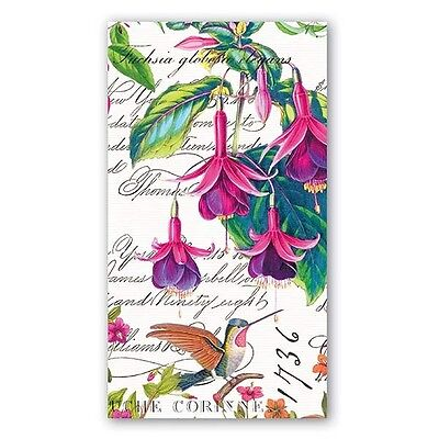 TWO (2) Fuchsia, Flowers Hummingbirds Paper Hostess Napkins for Paper Crafts