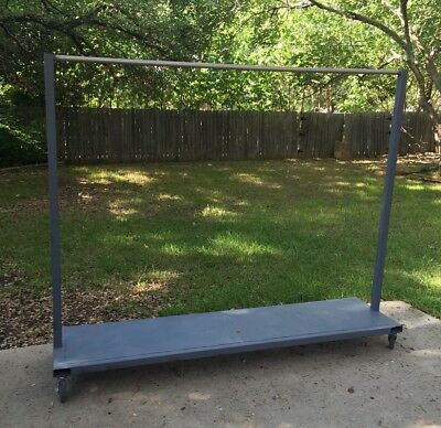 Industrial Rug Clothes Garment Rack Cart