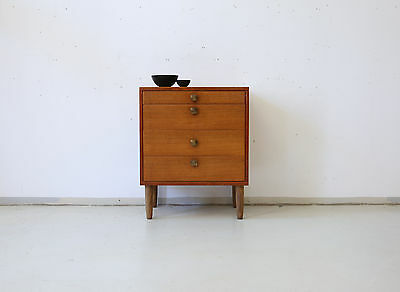 60er TEAK KOMMODE SWEDISH 60s CABINET CHEST OF DRAWERS VINTAGE MID CENTURY
