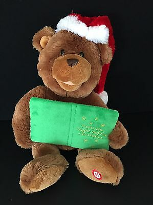 Twas The Night Before Christmas Bear Plush Animated Talking Sound N Light