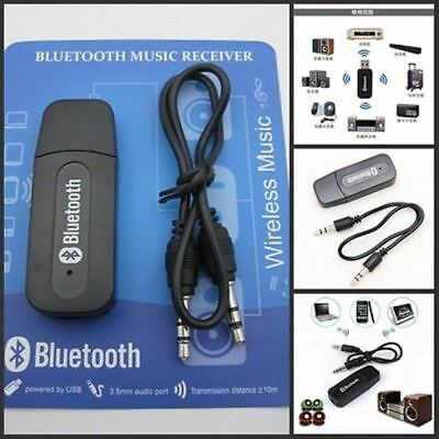 3.5mm USB Wireless Bluetooth Music Audio Stereo Receiver Adapter Dongle AMP New