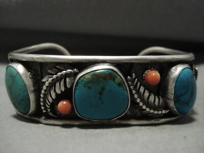 Museum Vintage Navajo Turquoise Silver Bracelet Old Jewelry