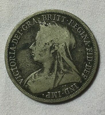 1896 Great Britain One Shilling Coin