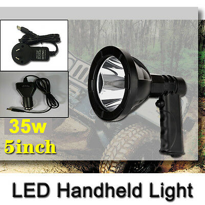 25W 5Inch Led Cree Rechargeable Spotlights Handheld Hunting Fishing Shoting 12V