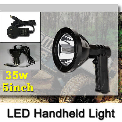 35W 5Inch Led Cree Rechargeable Spotlights Handheld Hunting Fishing Shoting 12V