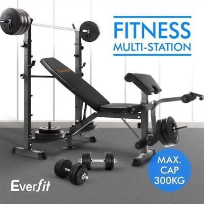 Everfit Multi Functional Gym Weight Bench Press Home Gym Fitness Workout