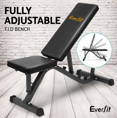 Everfit Adjustable FID Bench Home Gym Fitness Workout Weight Abs Chest Press