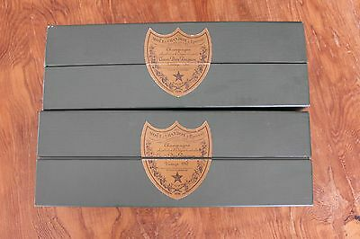 2 Dom Perignon Boxes 1982 Green Collectable Case Box EMPTY BOXES ONLY