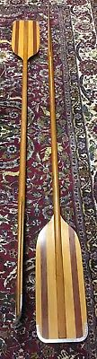 Vintage Pair of Timber Oars with Metal Detachable Tips 211cm