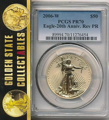 2006 W $50 20Th Anniversary Set  Gold Eagle Reverse Proof Pcgs Pr70 Perfect