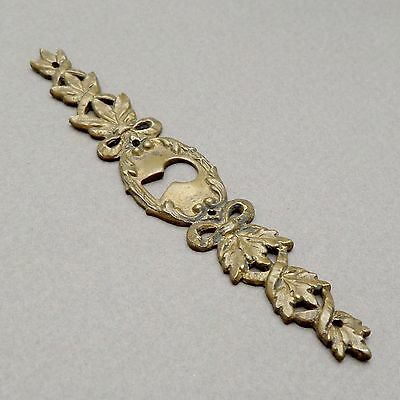 """French, Antique Brass Door """"Rococo Style"""" Plate Cover, With key hole."""