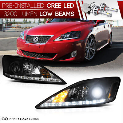 [LED LOW BEAM] Fit 2006-2013 Lexus IS250 IS350 DRL Headlights Lamps Assembly SET
