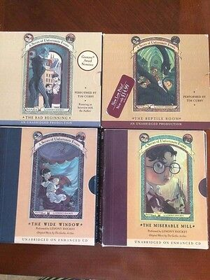Series of Unfortunate Events (Books 1-4 audiobooks on CD) lot