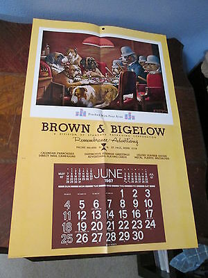 Vtg 1967 Brown & Bigelow Pinched With Four Aces Coolidge Advertising Calendar