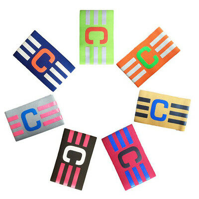 Football Captain Armband Soccer Skippers Armbands Multi Color Adjustable Player