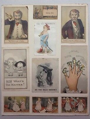 Sheet Of Victorian Trade Cards