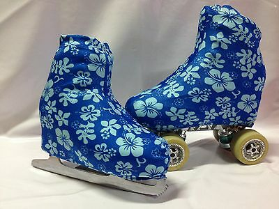 Holo Hawiian Floral Boot Covers for RollerSkates and Ice Skates  S,M,L