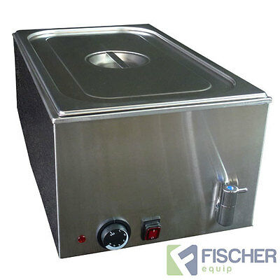 """new"" - Stainless Steel Hot Food Warmer Bain Marie Incl 1/1 Gn Tray - 8710.1.1"