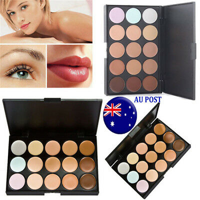 Makeup Concealer Palette 15 Colors Professional Salon Contour Face Cream MN
