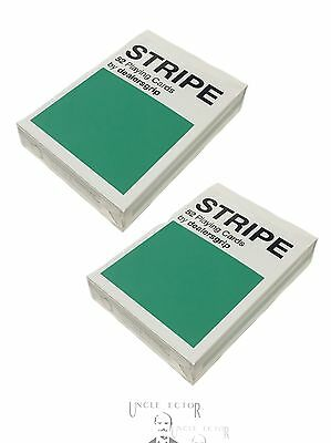 TWO DECKS OF Dealersgrip STRIPE Playing Cards Deck, limited new USPCC, Stripes 2